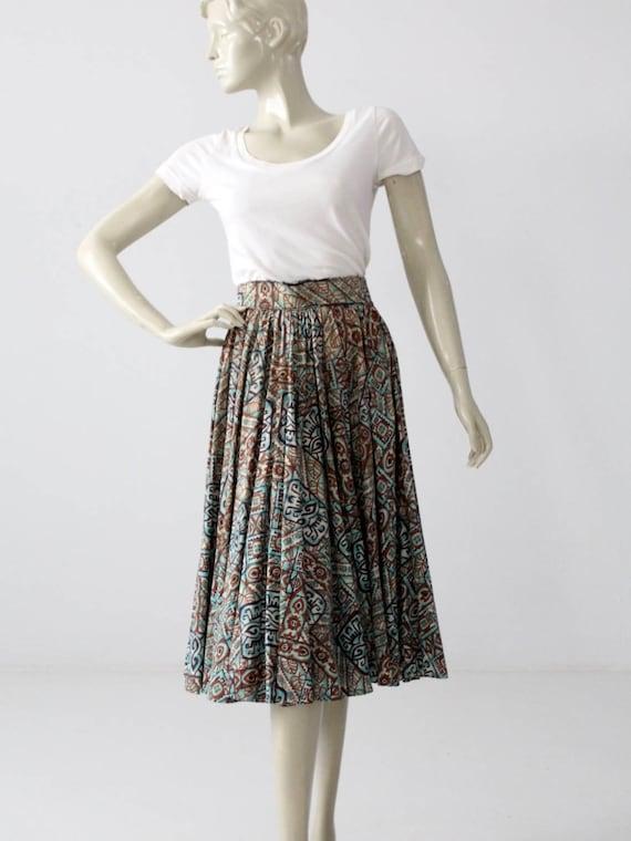 1950s southwestern circle skirt, Taos Fiesta Fashi