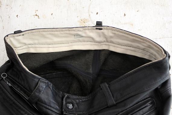 1970s black leather pants, vintage motorcycle pan… - image 5