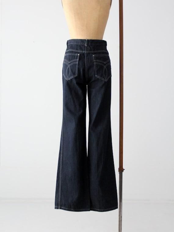 vintage-yes-wide-leg-denim,-dark-wash-jeans,-30-x-35 by etsy