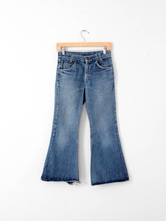 Levi's vintage jeans, 1970s denim flares, 784 bell