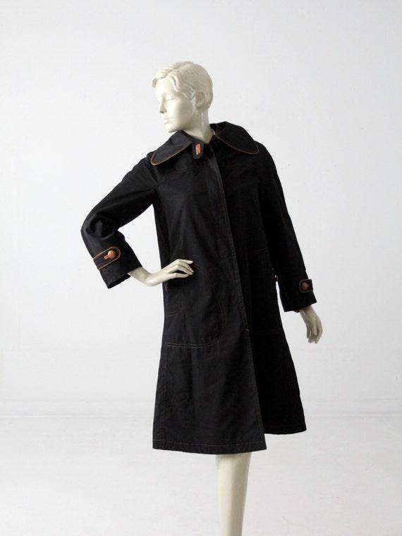 vintage Cortefiel trench coat, black coat