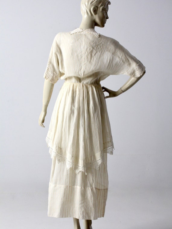 Edwardian tea dress, 1900s ivory dress - image 4