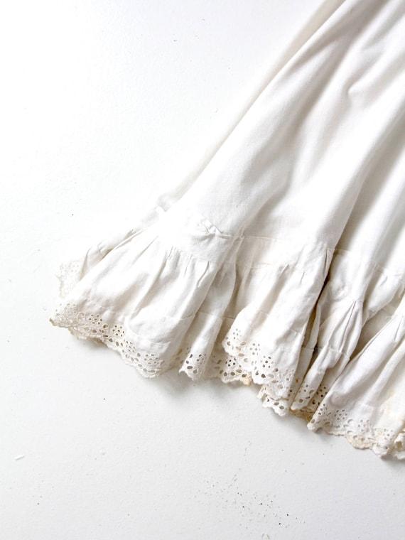 Edwardian skirt, antique eyelet petticoat