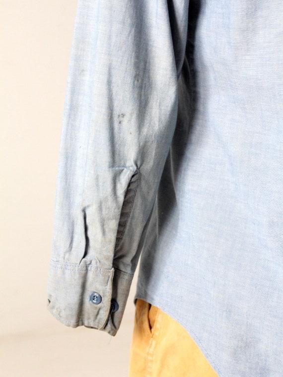 vintage Seafarer men's chambray utility shirt - image 9