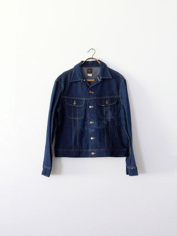 1970s Lee denim jacket,  Lee Sanforized PATD-1534… - image 1