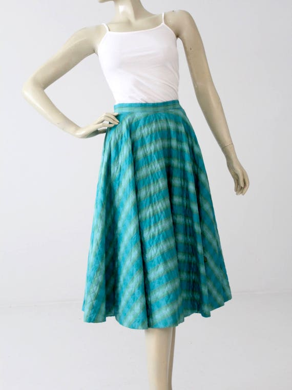 vintage 50s quilted circle skirt - image 1