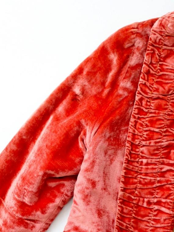 vintage velvet blazer, coral velvet jacket - image 9