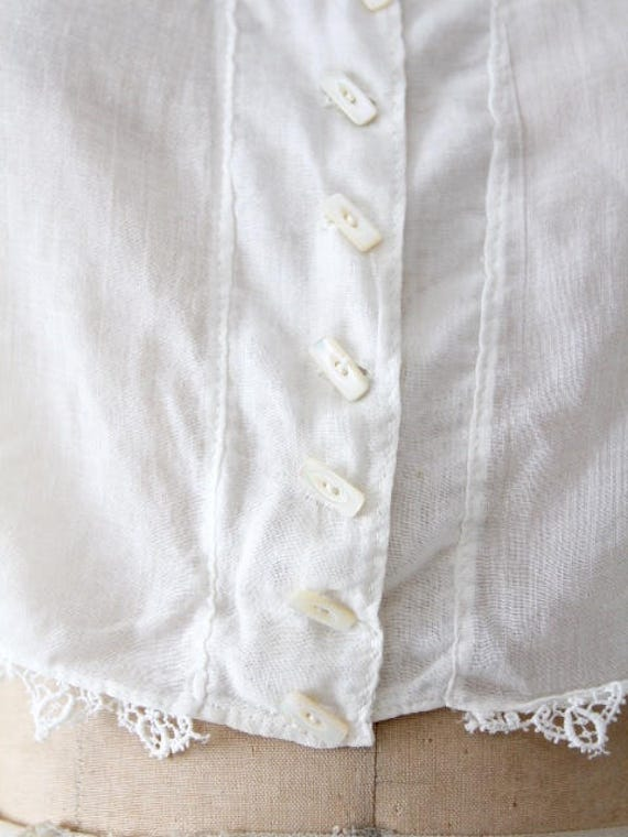 1900s blouse, Victorian white top, antique cotton… - image 6