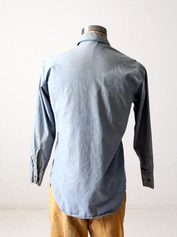 vintage Seafarer men's chambray utility shirt - image 8