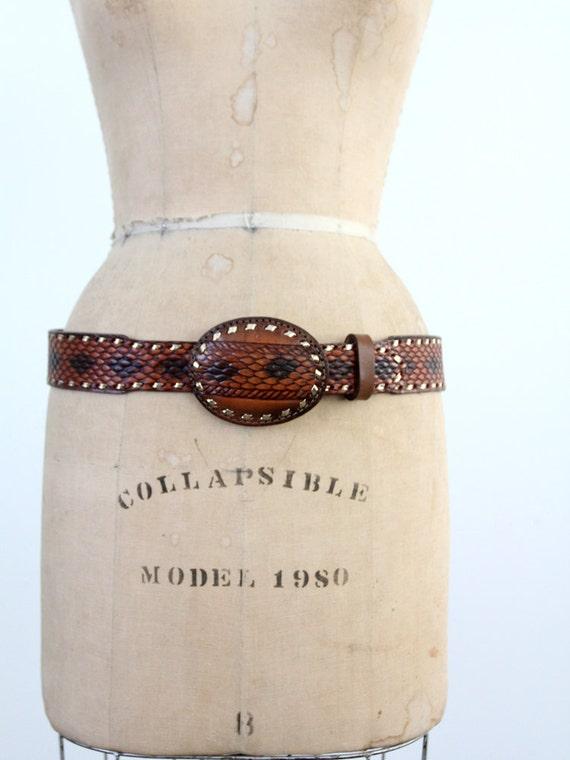 1980s faux snakeskin belt