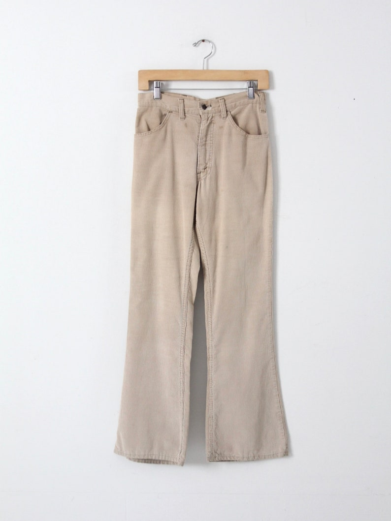 Vintage Levis Corduroys 70s Cords High Waist Flare Leg 29 X