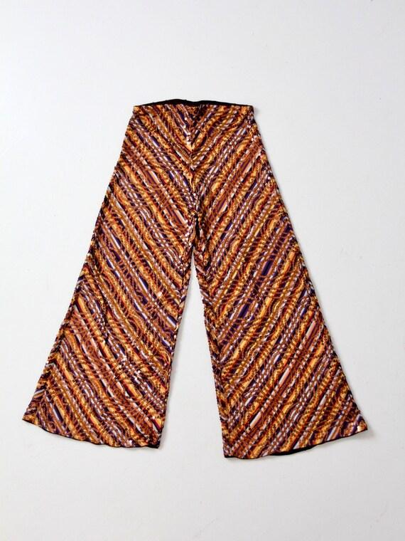 vintage Missoni pants, knit sequin wide leg pant - image 3