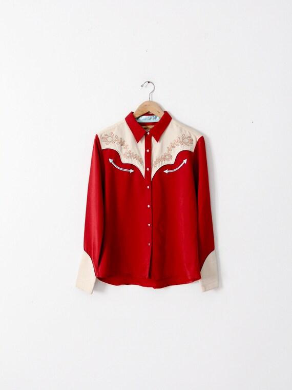 vintage Wrangler western shirt, women's cowboy shi
