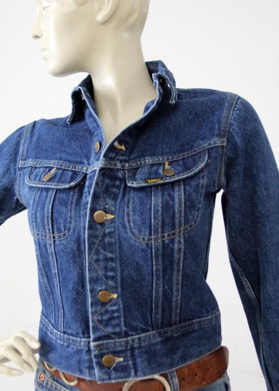 vintage 70s Lee denim jacket, small American jean… - image 4