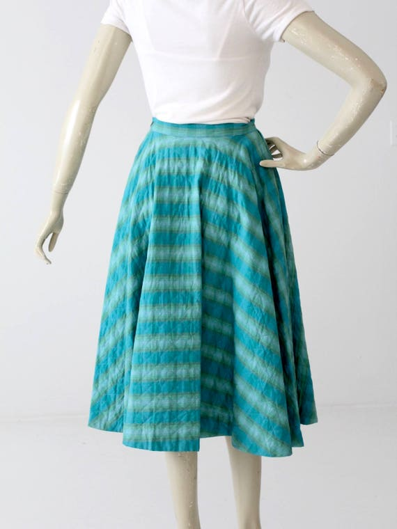 vintage 50s quilted circle skirt - image 3