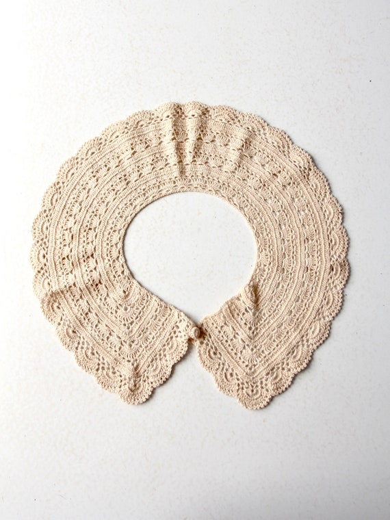 antique lace collar, hand crotchet - image 2