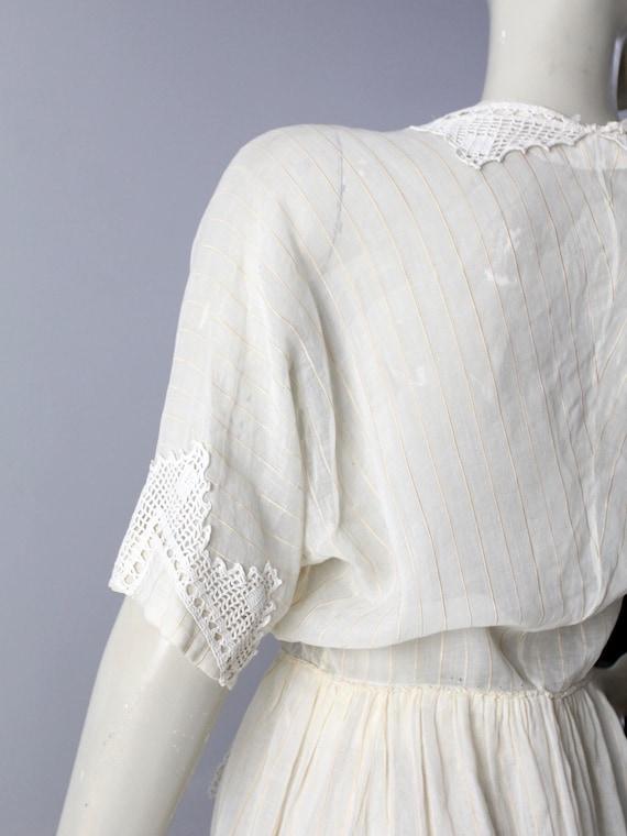 Edwardian tea dress, 1900s ivory dress - image 7