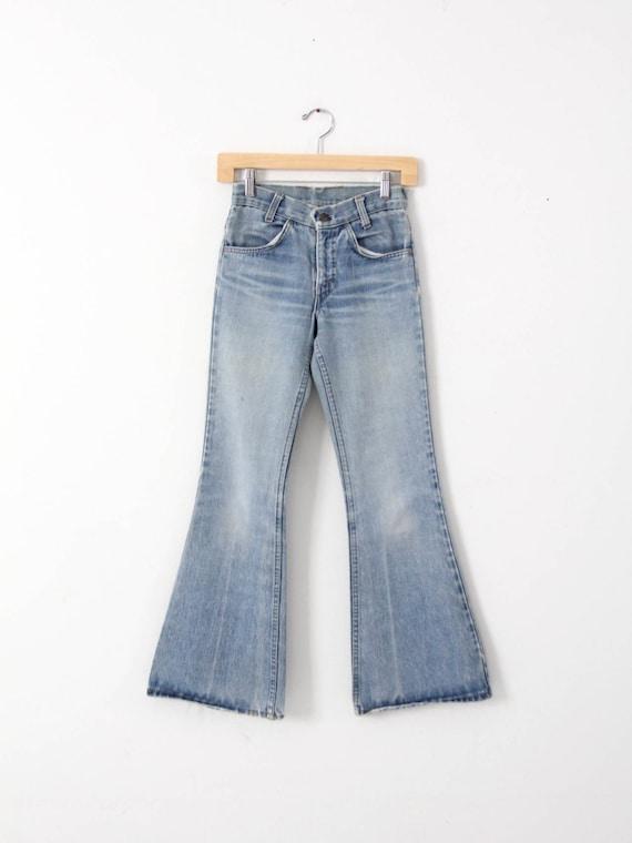 Levi's bell bottoms, vintage 70s jeans, 26 x 30
