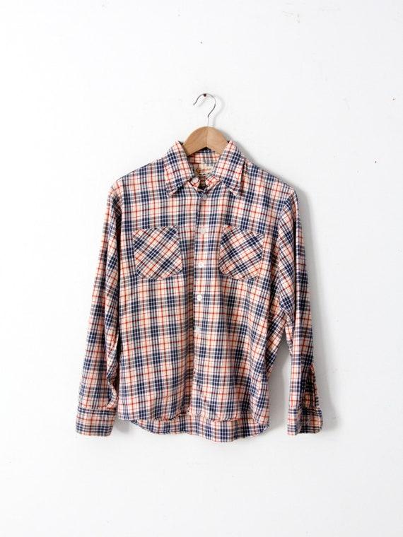 vintage plaid button up shirt - image 3