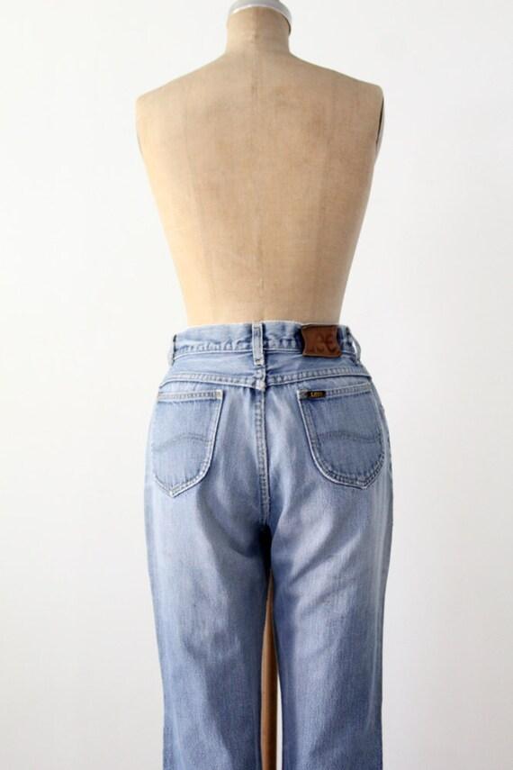 1970s high waist Lee jeans, vintage blue jeans, w… - image 3