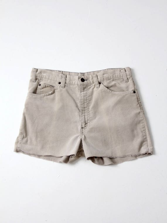 Levi's corduroy shorts, vintage cut off shorts, wa