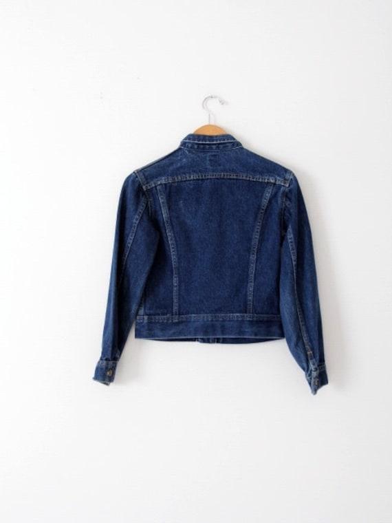 vintage 70s Lee denim jacket, small American jean… - image 3