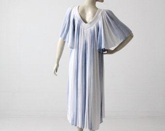 1970s gauze dress, vintage tie dye hippie sundress