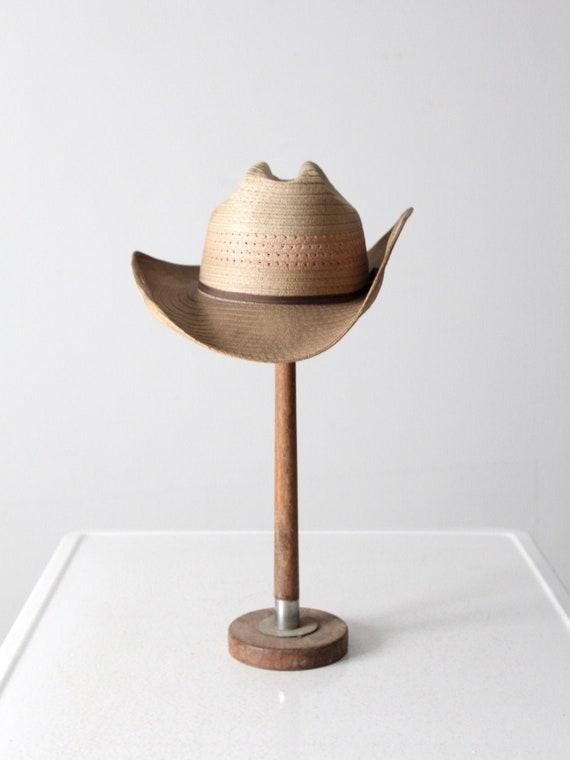 vintage straw cowboy hat