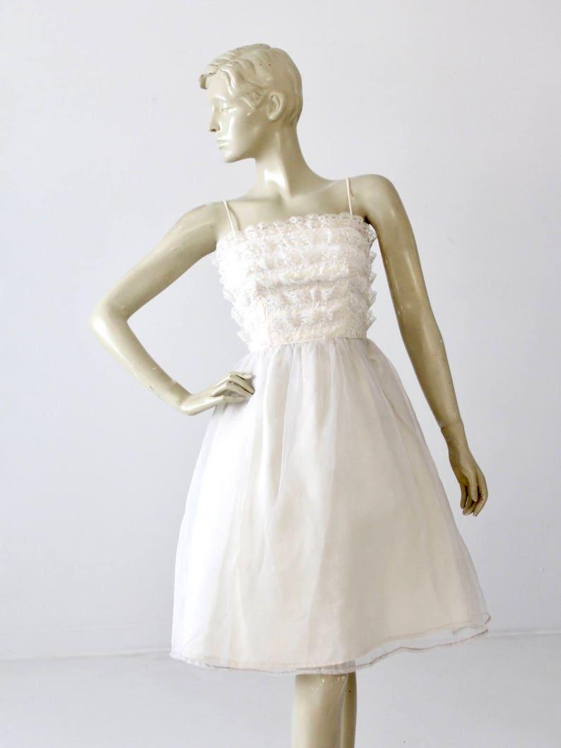 Vintage 60s Saks Fifth Avenue White Wedding Dress Etsy