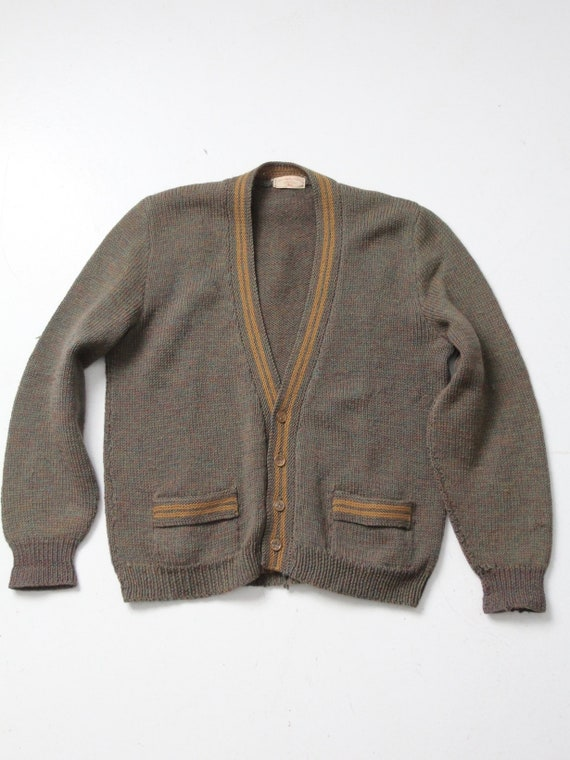 vintage 50s hand knit cardigan sweater