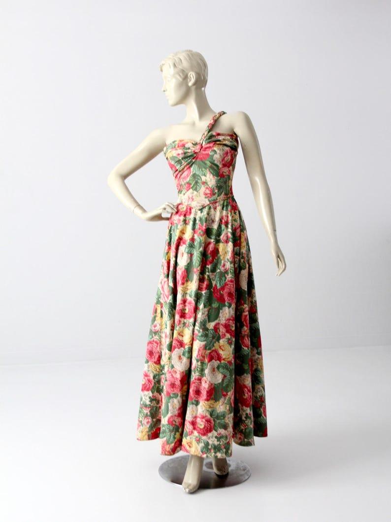 b6520ce7f4d1 1940s floral maxi dress