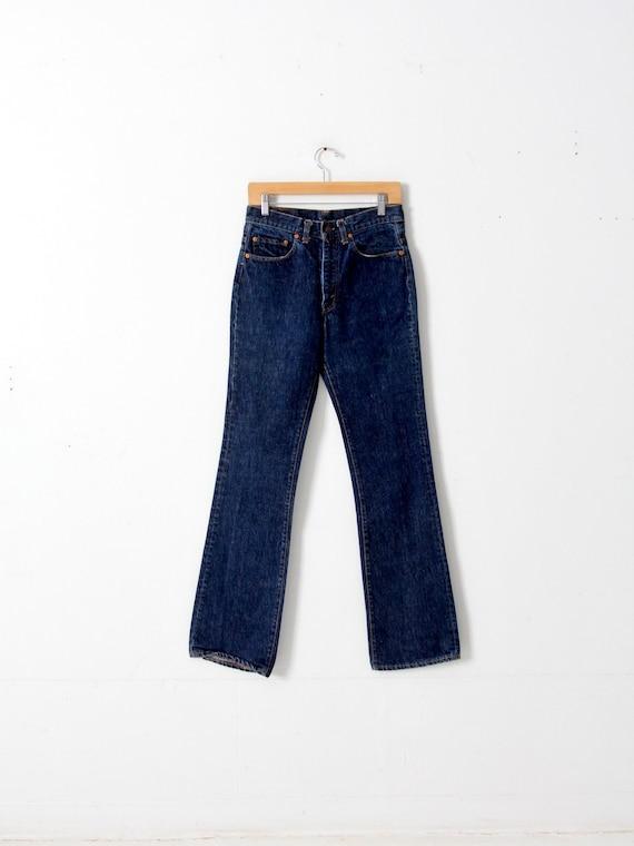 vintage Levis 517 denim jeans, high waist bootcut