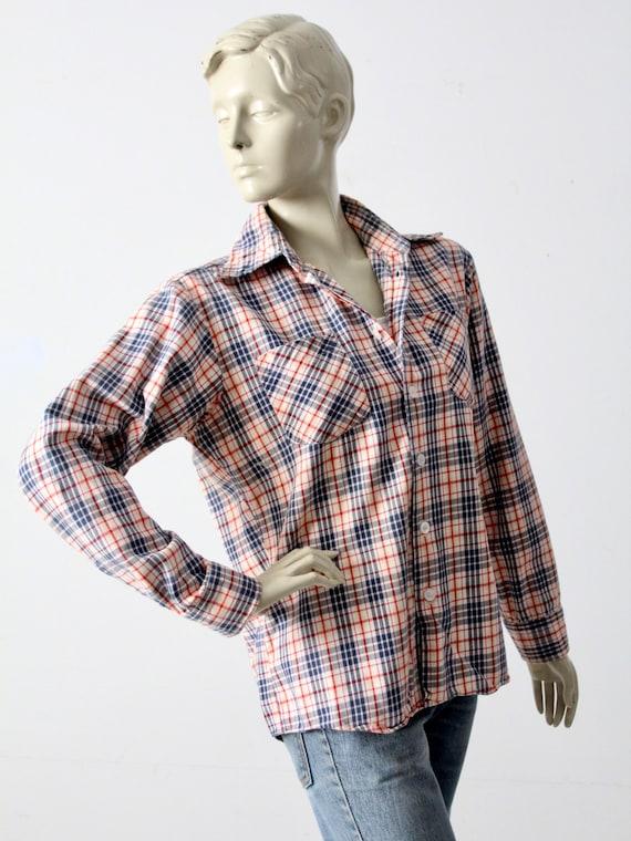 vintage plaid button up shirt - image 9