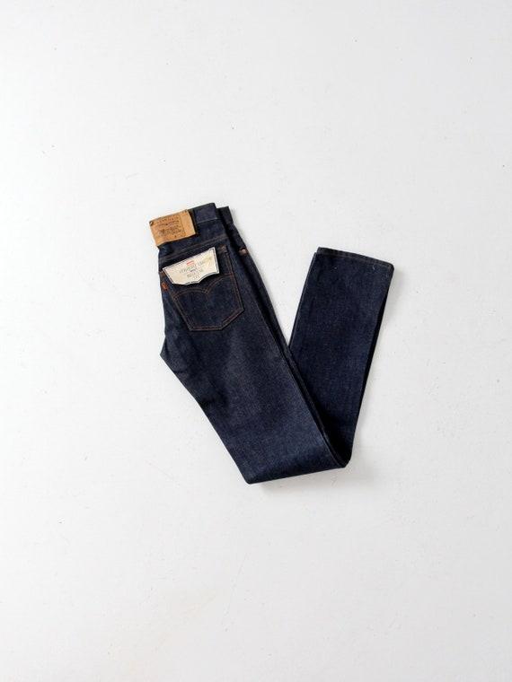 vintage 70s Levis 509 jeans, dark wash straight le