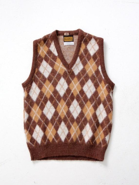 vintage mohair sweater vest, argyle vest - image 6