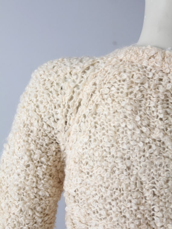 vintage 60s mohair sweater, Sears Italian knit cr… - image 5
