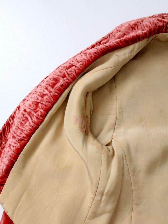 vintage velvet blazer, coral velvet jacket - image 8