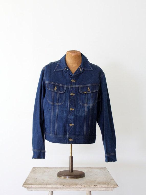 1970s Lee denim jacket,  Lee Sanforized PATD-1534… - image 2