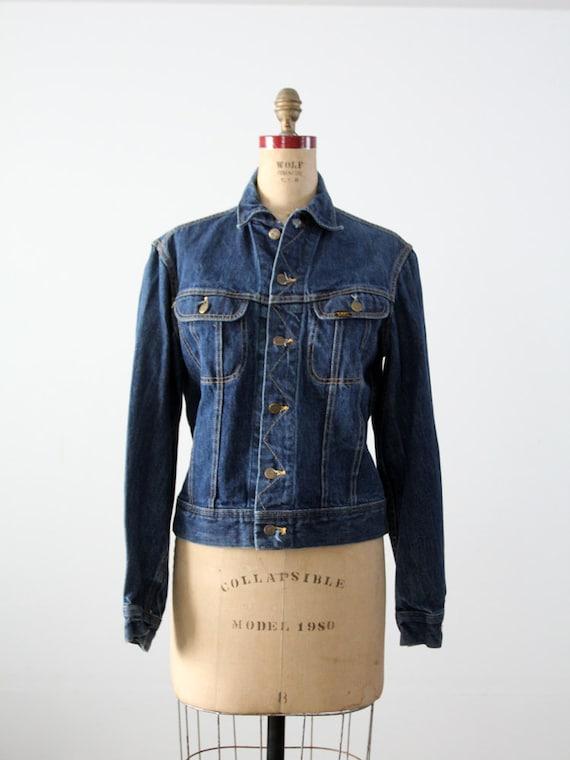 1970s Lee denim jacket ptd 153438, vintage jean j… - image 4