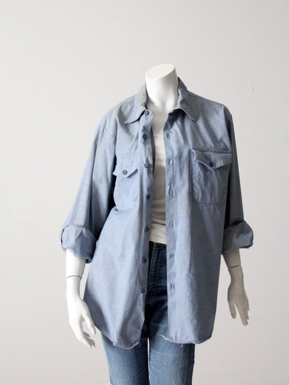 vintage Seafarer men's chambray utility shirt - image 10