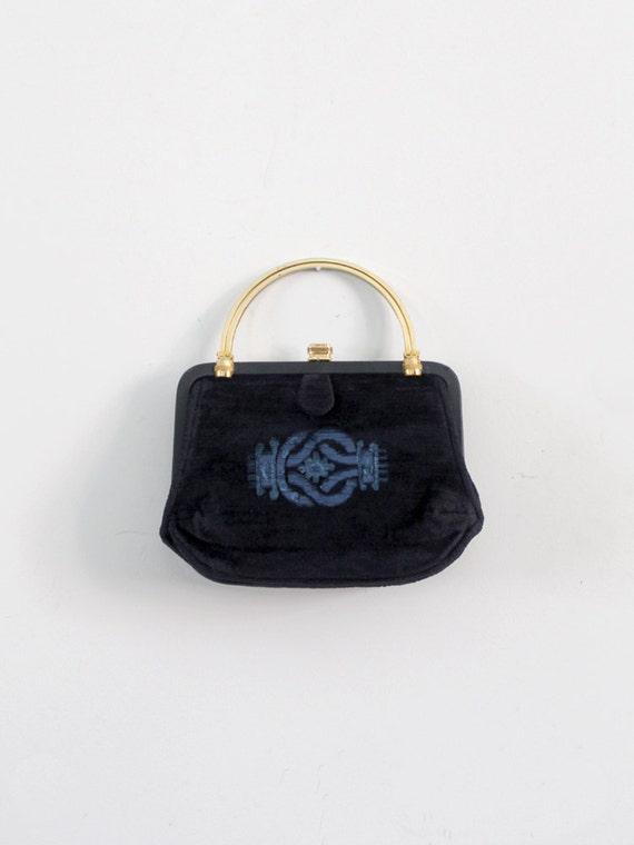 1960s velvet evening bag by Greta