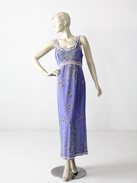 1960s Pucci Slip Dress / Vintage Pucci Form Fit Ro