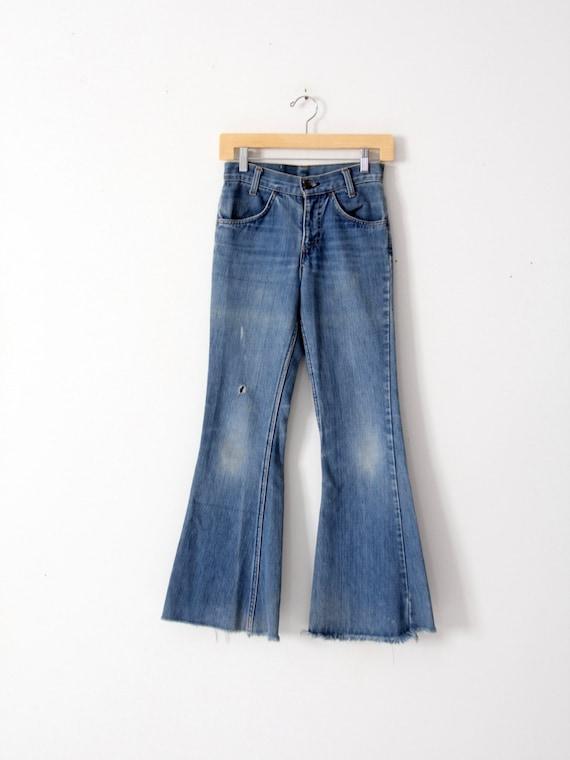 Levi's vintage jeans, 1970s denim flares, bell bot