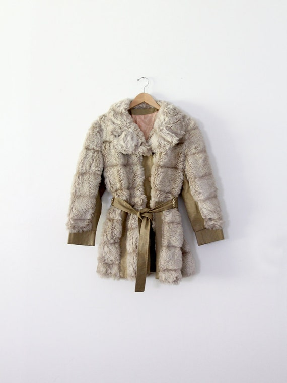 1970s faux fur coat