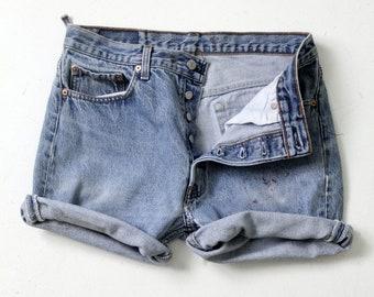 vintage Levis 501 denim cut off shorts, W 32