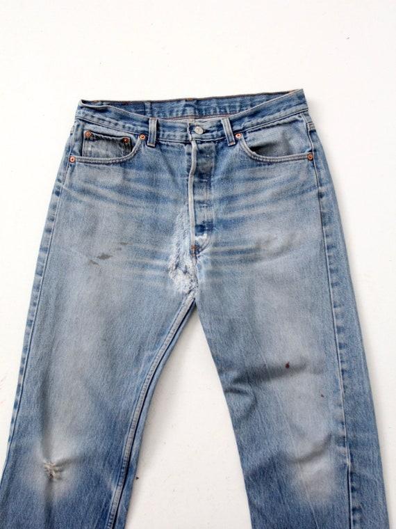 vintage 501 Levi's denim jeans, distressed Levis … - image 4