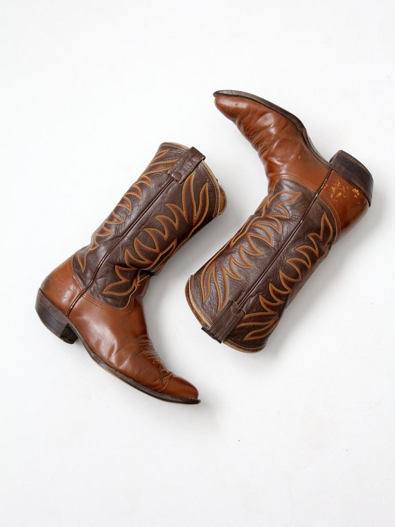 vintage Nocona cowboy boots, leather western boots