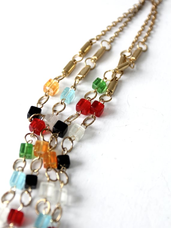vintage multi chain beaded necklace - image 9