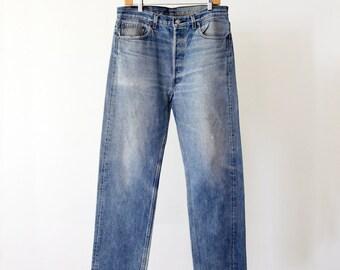 Levi's 501 jeans, vintage 80s Levis denim, 35 x 31