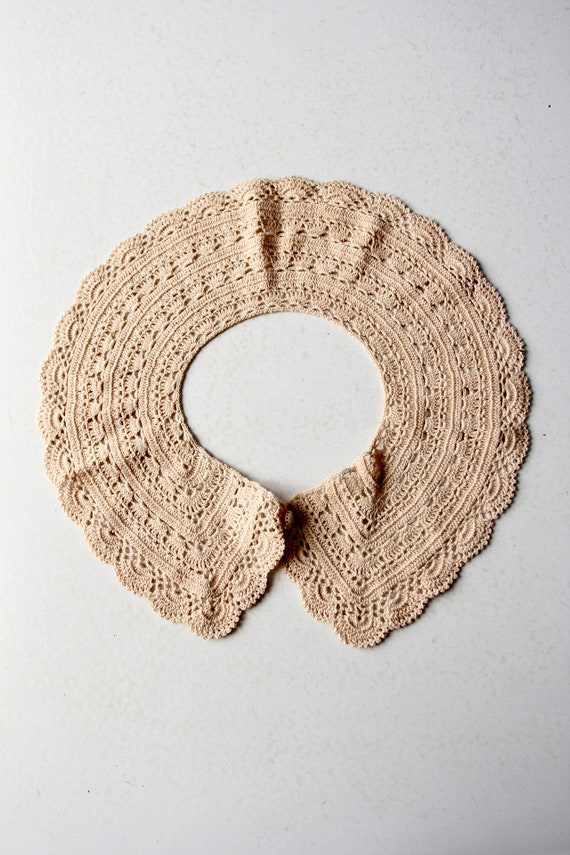 antique lace collar, hand crotchet - image 5